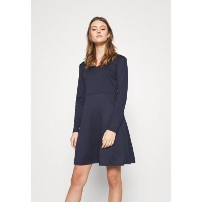 ヴィラ ワンピース レディース トップス VITINNY  DOLL DRESS - Jersey dress - navy blazer