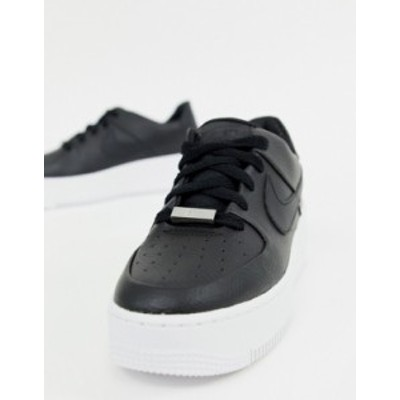 ナイキ レディース スニーカー シューズ Nike black air force 1 sage low sneakers Black