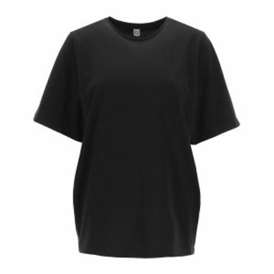 TOTEME/トーテム Black Toteme oversized cotton t-shirt レディース 春夏2021 211 472 770 ik