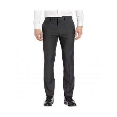 Kenneth Cole Reaction ケネスコール メンズ 男性用 ファッション パンツ ズボン Stretch Textured Weave Slim Fit Dress Pants - Charcoal Heather