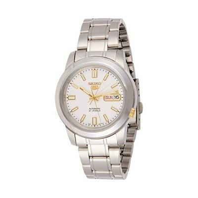 腕時計 セイコー メンズ SNKK07 Seiko Men's SNKK07 5 Stainless Steel White Dial Watch
