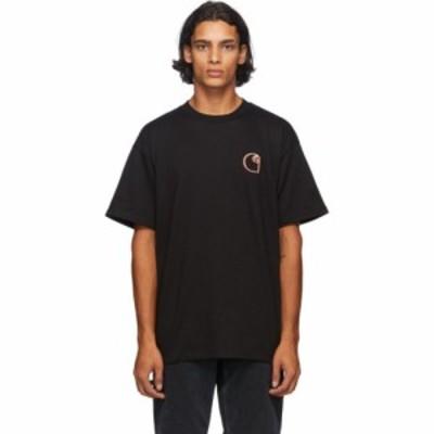 カーハート Carhartt Work In Progress メンズ Tシャツ トップス Black Commission T-Shirt Black