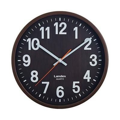 ランデックス(Landex) 掛け時計 アナログ 30cm バーレルタイム ダークブラウン YW9136DBR