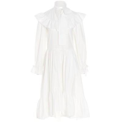 MSGM/エムエスジーエム White Ruffles dress レディース 春夏2021 3041MDA2321710401 ju