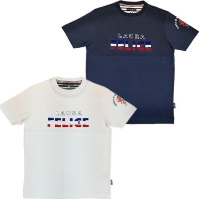 ラウラフェリーチェ LAURA FELICE メンズ 丸首半袖Tシャツ 日本製 138-5501 2021春夏新作 通常販売価格:16500円