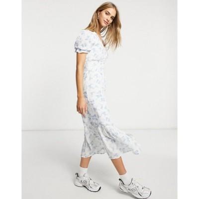 ウエアハウス レディース ワンピース トップス Warehouse bonnie ditsy midi dress in multi Blue pattern