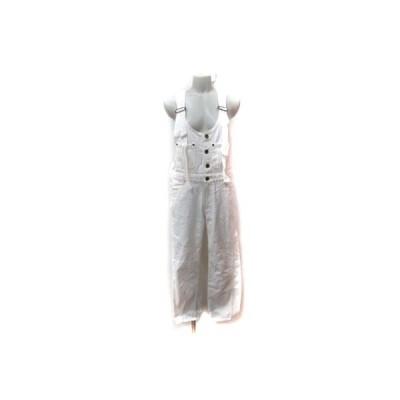【中古】グレースコンチネンタル GRACE CONTINENTAL パンツ オーバーオール 36 白 ホワイト /YI レディース 【ベクトル 古着】