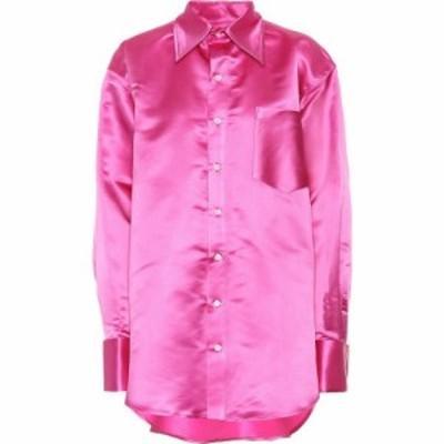 マシュー アダムズ ドーラン Matthew Adams Dolan レディース ブラウス・シャツ トップス Oversized silk shirt hot pink