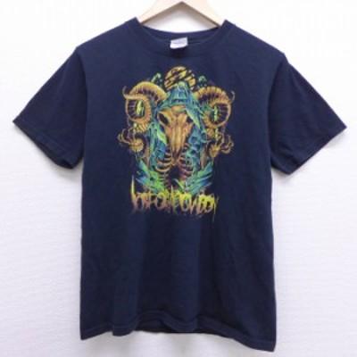 古着 半袖 ビンテージ ロック バンド Tシャツ 00年代 00s ジョブフォーアカウボーイ コットン クルーネック 黒 ブラック Mサイズ 中古 メ