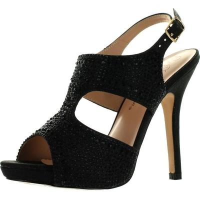 レディース 靴 サンダル De Blossom Womens Yael-71 Stunning Glitzy Evening Party Heels Sandals Shoes