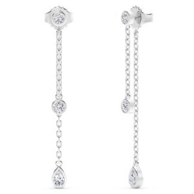 フォーエバーマーク レディース ピアス&イヤリング アクセサリー Tribute Collection Diamond (3/4 ct. t.w.)  Earrings in 18k White G