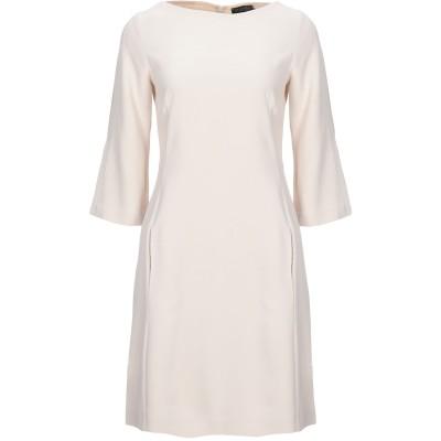 ANTONELLI ミニワンピース&ドレス ベージュ 42 レーヨン 70% / アセテート 26% / ポリウレタン 4% ミニワンピース&ドレス