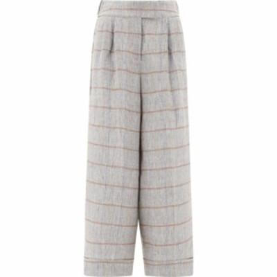 プレセリコ Peserico レディース ボトムス・パンツ Striped Linen Pants Gray