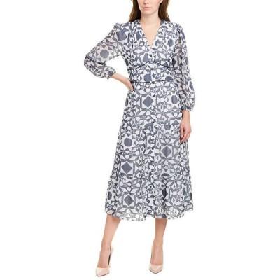 ショシャーナ ワンピース トップス レディース Shoshanna Demetria Midi Dress white & navy