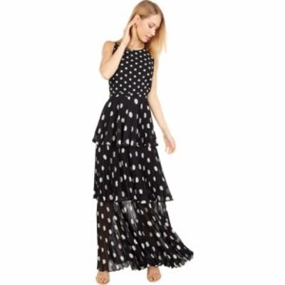 ミリー Milly レディース ワンピース マキシ丈 ワンピース・ドレス Emiliana Pleat Polka Dot Maxi Dress Black/White