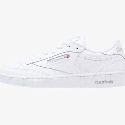 リーボック メンズ 靴 シューズ CLUB C 85 LEATHER UPPER SHOES - Trainers - white/sheer grey