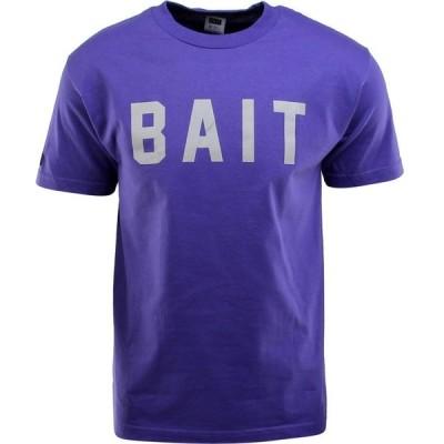 BAIT メンズ Tシャツ ロゴTシャツ トップス Logo Tee purple/gray