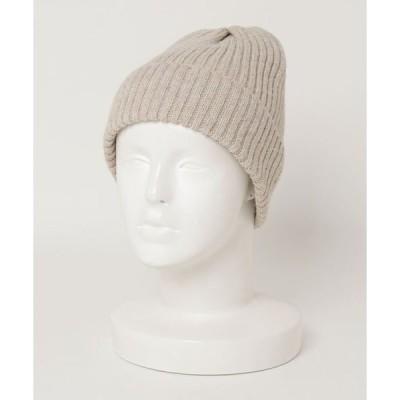 帽子 キャップ 【 JABURO / ジャブロー 】UK YARN 2×1 WATCH /リブ編みニット帽 ニットワッチ