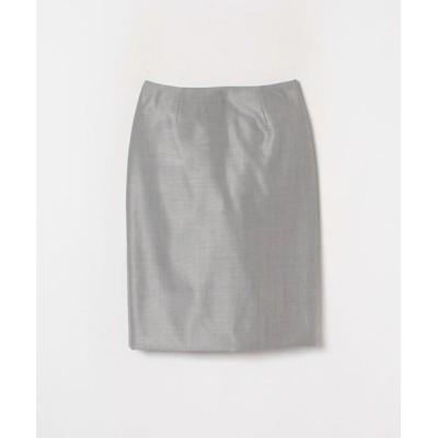 LANVIN COLLECTION/ランバン コレクション シルクウールシャークスキンスカート グレー2 40
