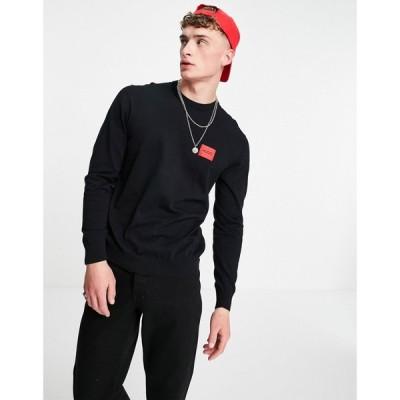 ヒューゴ ボス HUGO メンズ ニット・セーター トップス San Claudio knitted jumper in black ブラック