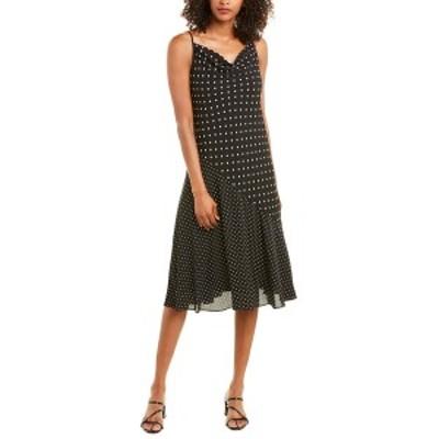 ナネットレポー レディース ワンピース トップス Nanette Nanette Lepore Polka Dot Midi Dress very black mixed dot print