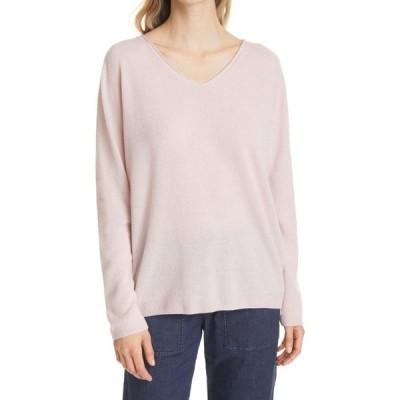 マックスマーラ MAX MARA LEISURE レディース ニット・セーター Vネック トップス Smirne V-Neck Wool & Cashmere Blend Sweater Pink