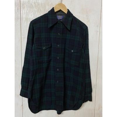【USED】(ユーズド)70-80's PENDLETON WOOL CHECK SHIRT 70,80年代 ペンドルトン ウールチェックシャツ 200327PE01