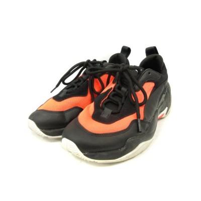 【中古】プーマ PUMA スニーカー 切替 THUNDER FASHION 2.0 サンダー ファッション 2.0 26cm 黒 オレンジ 370376 /SR ■SH メンズ 【ベクトル 古着】
