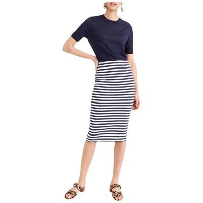 ジェイクルー レディース スカート ボトムス Knit Pencil Skirt in Stripe