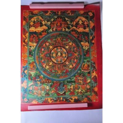 ネパールタンカ(肉筆仏画) 仏陀曼荼羅 ブッダマンダラ【送料無料】tk5077