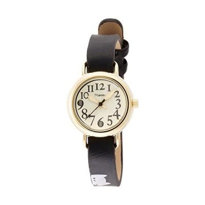 [フィールドワーク] 腕時計 フィールドワーク アナログ ジロ ネコ 革ベルト FSC095-3 レディース ブラック