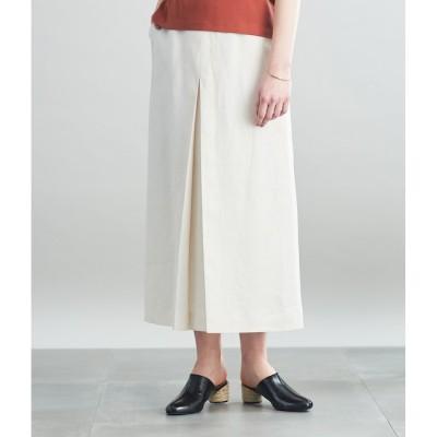 【シプリ/SIPULI】 ライトリネンツイル プリーツロングスカート