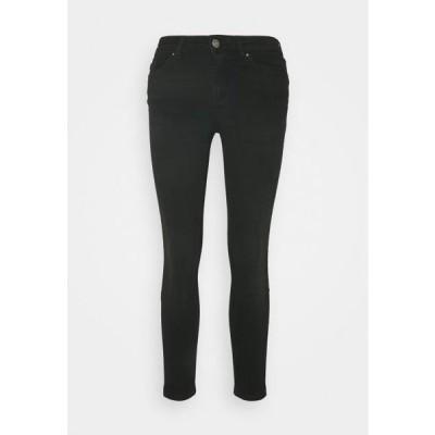 レディース ジーンズ PCDELLY - Jeans Skinny Fit - black