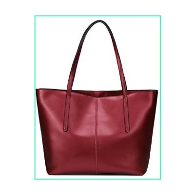 Covelin Women's Handbag Genuine Leather Tote Shoulder Bags Soft Hot Wine red並行輸入品