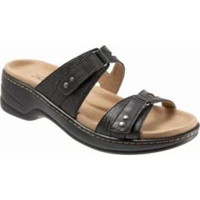 Trotters レディースサンダル Trotters Neiman Slide Black Natural/Synthe