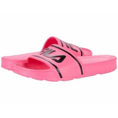 フィラ レディース サンダル シューズ Sleek Slide ST Knockout Pink/Black