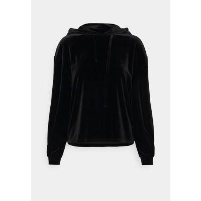 レディース ファッション Hoodie - black