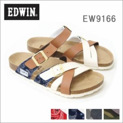 クロスバンド フットベット メンズサンダル EDWIN/エドウィン ew9166