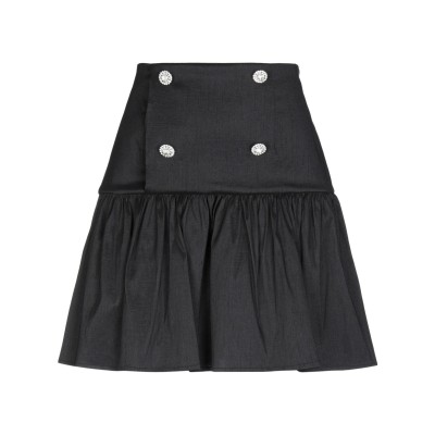 5RUE ひざ丈スカート ブラック XS ポリエステル 100% ひざ丈スカート