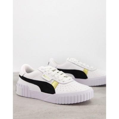 プーマ レディース スニーカー シューズ Puma Cali Versity sneakers in white White