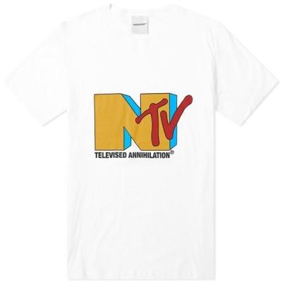 ナサシーズンズ NASASEASONS メンズ Tシャツ トップス NTV Tee White