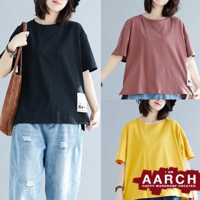 大きいサイズ Tシャツ トップス レディース ファッション ぽっちゃり おおきいサイズ 対応 オーバーサイズ ビッグタグ ビッグシルエット M L LL 3L 4L 春夏