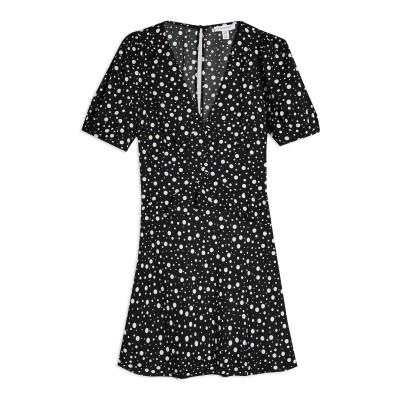 トップショップ TOPSHOP ミニワンピース&ドレス ブラック 10 ポリエステル 100% ミニワンピース&ドレス