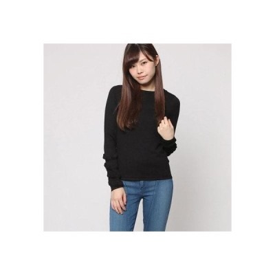 ゲス GUESS NADIA RUFFLE SLEEVE SWEATER (JET BLACK)