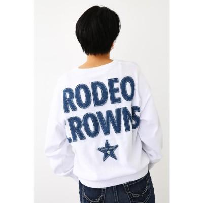 ロデオクラウンズワイドボール RODEO CROWNS WIDE BOWL INDIポケットニットトップス (ホワイト)