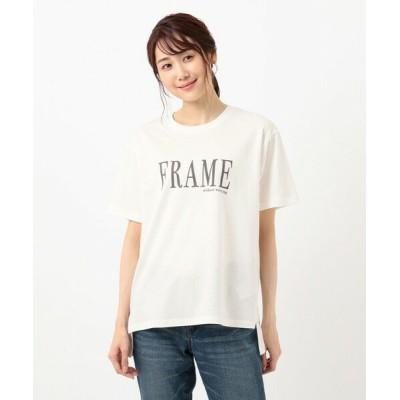 any FAM/エニィファム オーガビッツプリント Tシャツ アイボリー系 F