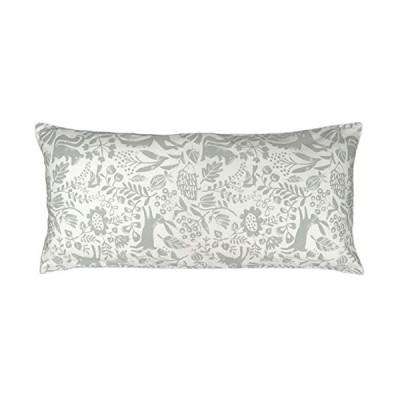 CAMEL PALMS 日本製 綿100% ロングまくら用 枕カバー ファスナー式 43×90cm 用 適度な厚さの生地 森の動物たち A