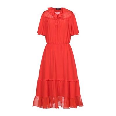 ロシャス ROCHAS 7分丈ワンピース・ドレス レッド 40 シルク 100% 7分丈ワンピース・ドレス