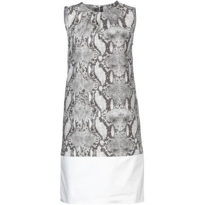 マニラ グレース MANILA GRACE ミニワンピース&ドレス グレー 40 コットン 100% ミニワンピース&ドレス