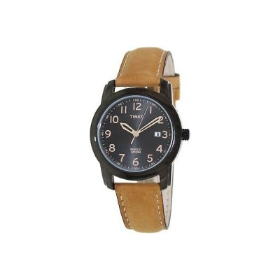 腕時計 タイメックス Timex Men's Elevated Classics T2P133 Black Leather Analog Quartz Fashion Watch